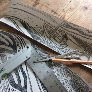 handgedruckte Tapeten aus der Tapetenmanufaktur Print Garden. Hand Printer wallpaper