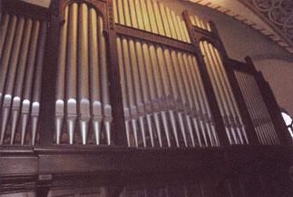 Orgelprospekt, Klais-Orgel, Hl. Dreifaltigkeit, Orgelförderverein