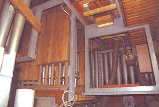 versperrter Zugang, Klais-Orgel, Hl. Dreifaltigkeit, Orgelförderverein