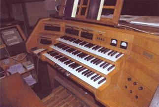 Spieltisch, Klais-Orgel, Hl. Dreifaltigkeit, Orgelförderverein