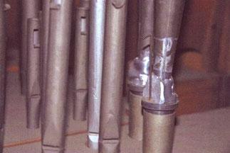 schlecht reparierte Pfeifen, Klais-Orgel, Hl. Dreifaltigkeit, Orgelförderverein