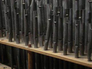 beschädigte Pfeifen, Klais-Orgel, Hl. Dreifaltigkeit, Orgelförderverein