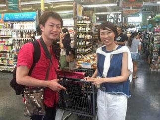 ハワイ オアフ島  カイルア ホールフーズ オプショナルツアー 専用車での貸切観光 チャーター 日本語タクシー