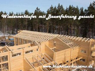 Blockhausbau - Baustelle eines Hotels - Holzhaushersteller - Blockhaushersteller - Innovative Blockhäuser - Individuelle Holzhäuser - Hersteller - Blockbohlenhäuser - Energieeffiziente Architektenhäuser aus Holz