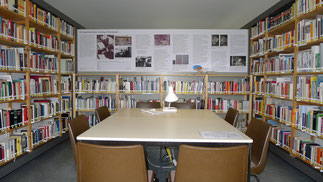 Blick in die Bibliothek. Foto: A. Ehresmann, 20.9.2016