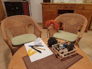 Hilfsmittel bei der Gestalttherapie