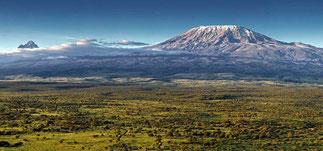 Morfologia del Kenya-Vista del Kilimanjaro