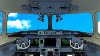 Flight deck image of a future An-124-115M Russia considers to construct  /  source: V-D