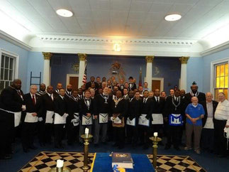 Members and Visitors after an Historic Fellowcraft Degree in January 2013