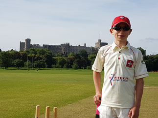 Owen on tour with the Swiss U11s in England