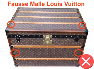 fake louis vuitton old trunk