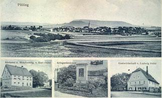 Ansichtskarte von Pölling Foto: Stadtarchiv
