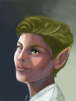 vb art, digital art, portrait, elf, digital tips, digital, Photoshop