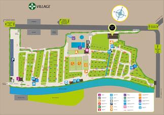 plan camping Chatillon en Diois