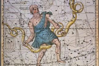 Ophiuchus, der Schlangenträger, das sogenannte 13. Sternzeichen