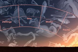 Sternbilder und Tierkreiszeichen