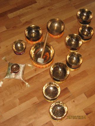 Handgefertige Metallschalen