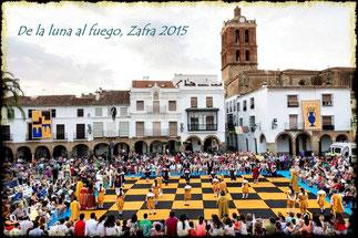 Ajedrez Viviente en la Plaza Grande de Zafra. © Fotografía cedida por Mameza