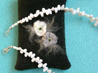 Von Herz und Hand, handgefertigte romantische Ketten mit Perlen von Brigitte Helbig in Stegen