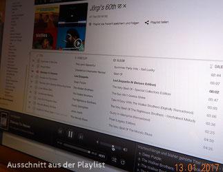 Ausschnitt aus der Playlist