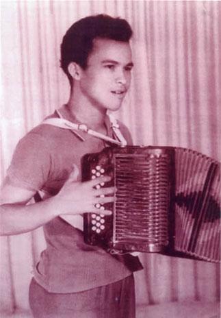 Alfredo Gutiérrez en su juventud.