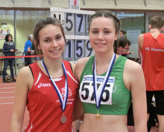 Siegerin im Hochsprung: Klara Kempter (r) mit Johanna Brandt (Bozen)