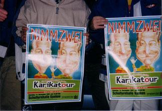 """Tourabschluss """"Karikatour"""", letztes Konzert in Konken 1997"""