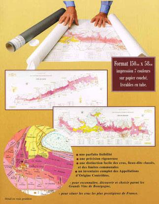 Carte Bourgogne Maranges.Wall Maps Collection Pierre Poupon Beaune Livres