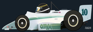 Johnny Dumfries by Muneta & Cerracín - Onyx 85B - March Cosworth