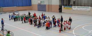 Turnier -Eröffnung durch die F-Jugend-Teams