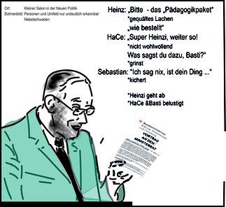 Faßmann übergibt die Ministerratsvortrag an Kurz und Starche  Bild:spa