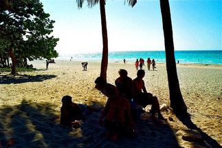 Erholungspause am Strand von Valadero