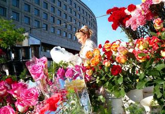 der Blumenstand fürs Wochenende