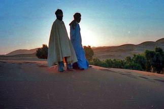 die kurzen Momente des Morgens sind in der Wüste die schönsten