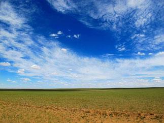 der Himmel berührte die Erde ohne jede Abgrenzung