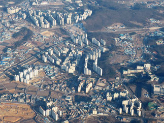 Buildings near Seoul, Korea