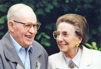 Gründerehepaar Maria Jakob und Ehemann  Heinz Hans, 1998