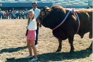 1990: concours départemental de Guingamp Adeline, Didier