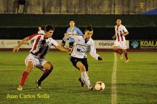 El partido de ida disputado en Artunduaga finalizó con victoria rojiblanca por 1-3. Foto: www.cdbasconia.com