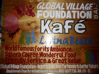 Bild: Global Village Foundation auf Bali: Kafé in Lovina
