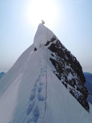 On the east ridge of Mt. Kitahotaka