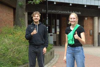 Mit den Schülersprechern Massi Husen und Taylor Hoare wurde eine Doppelspitze gewählt.