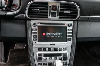 zenec Z-e7015S in silber für porsche lackiert als PCM2 ersatz