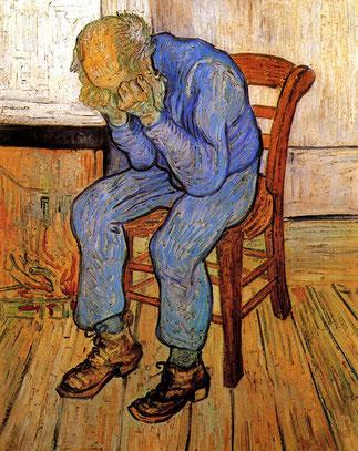 """Vincent Van Gogh, """"Vecchio che soffre"""" (1890)"""