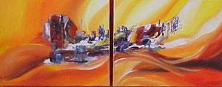 Twee Schilderijen - Tweeluik