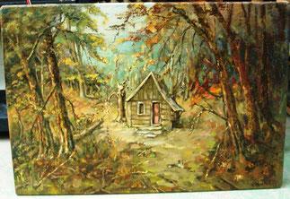 Schilderij Huisje in het Bos