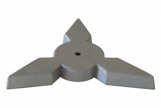 瓦の鍋敷き 手裏剣 三角(さんかく)