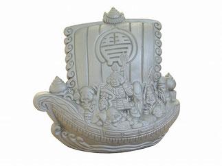 瓦の置物 宝船