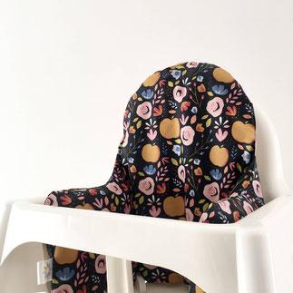 cette image représente une housse de chaise haute Antilop de chez Ikea