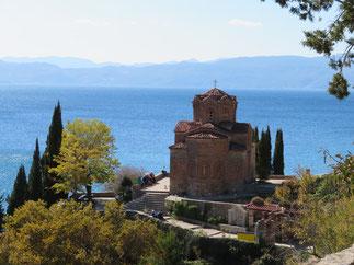 Kirche des heiligen Johann von Kaneo in Ohrid - Mazedonien